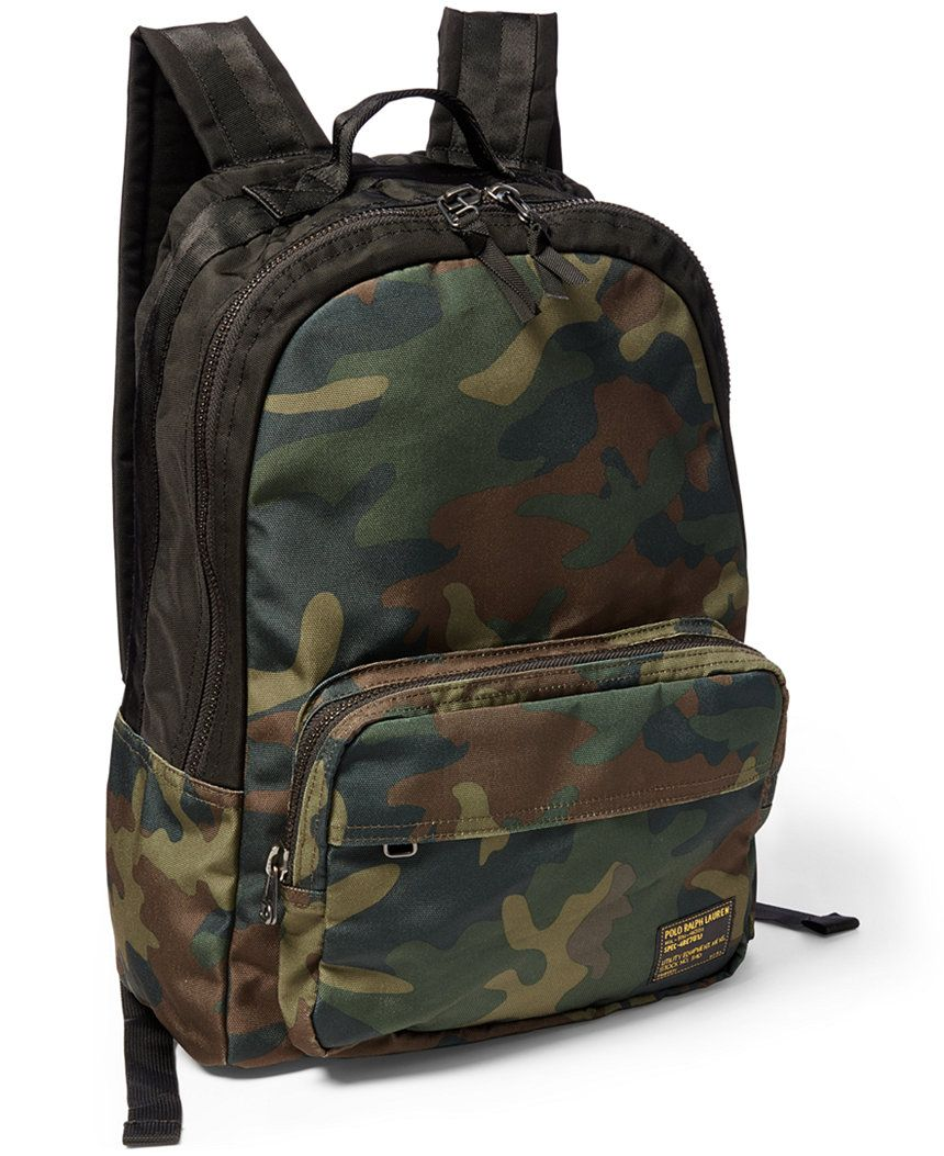 Polo Ralph Lauren Camo-Print Military Backpack - Backpacks - luggage    backpacks - Macy s 26a3464f08e97