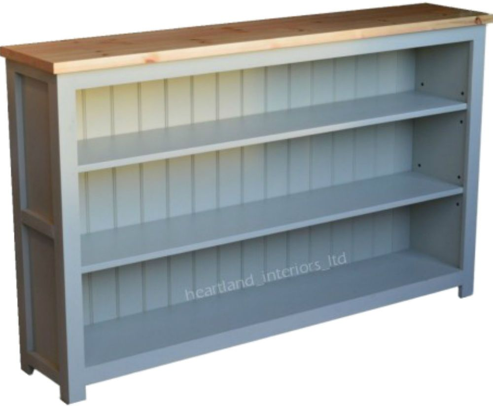 100 Solid Wood Bordeaux F B Painted 5ft Wide Low Bookcase