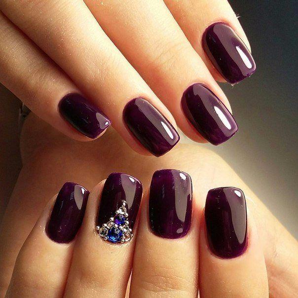 Nail Art 2648 Violet Nails Dark Purple Nails Plum Nails
