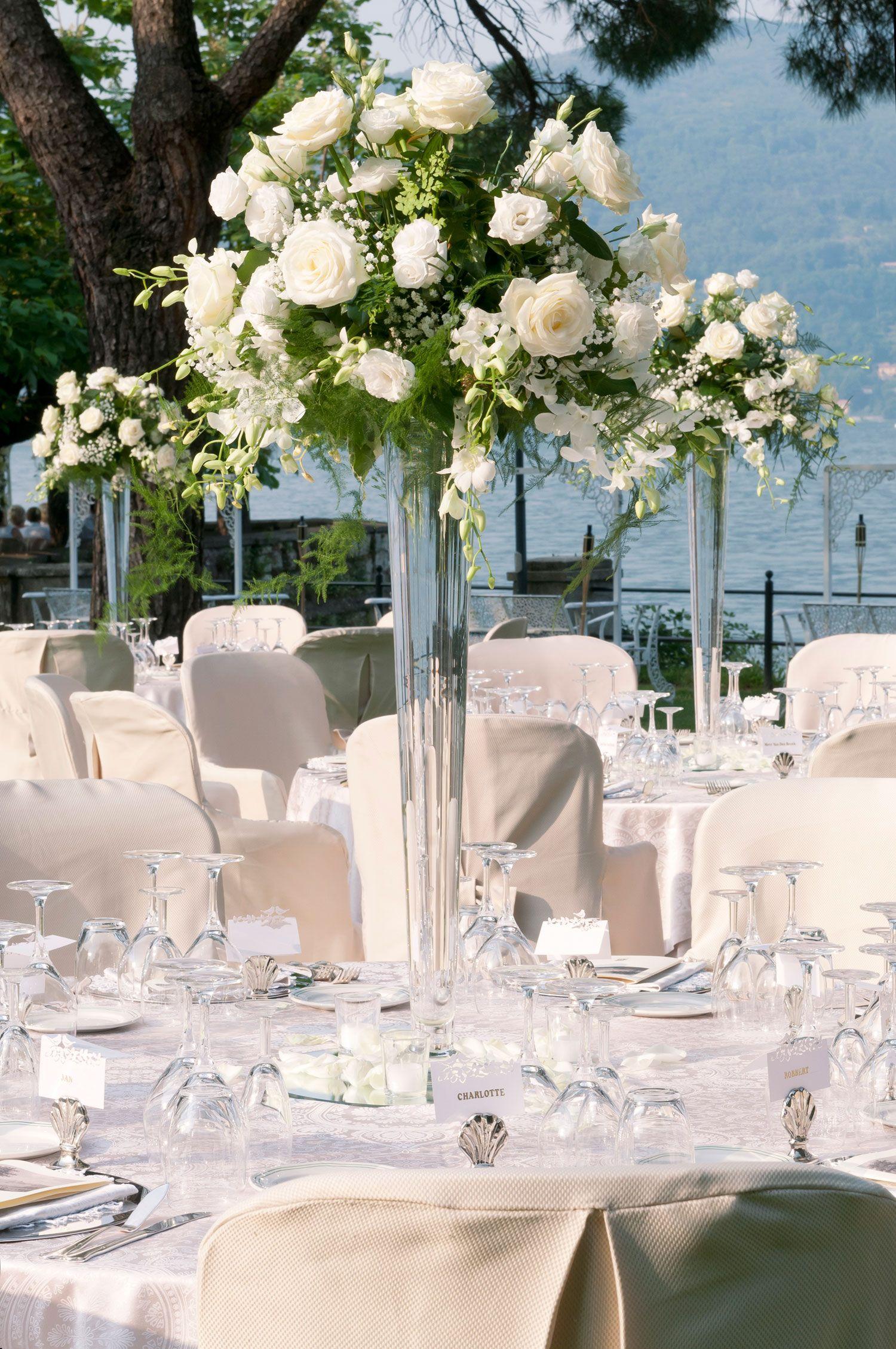 Risultati immagini per decorazione centrotavola matrimonio settembrino centrotavola cena - Composizioni floreali per tavoli ...
