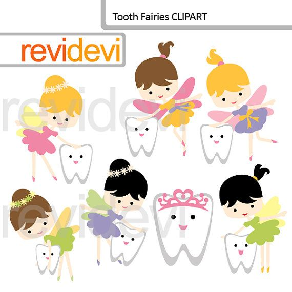Tooth Fairy Clipart commercial use clip art digital by revidevi
