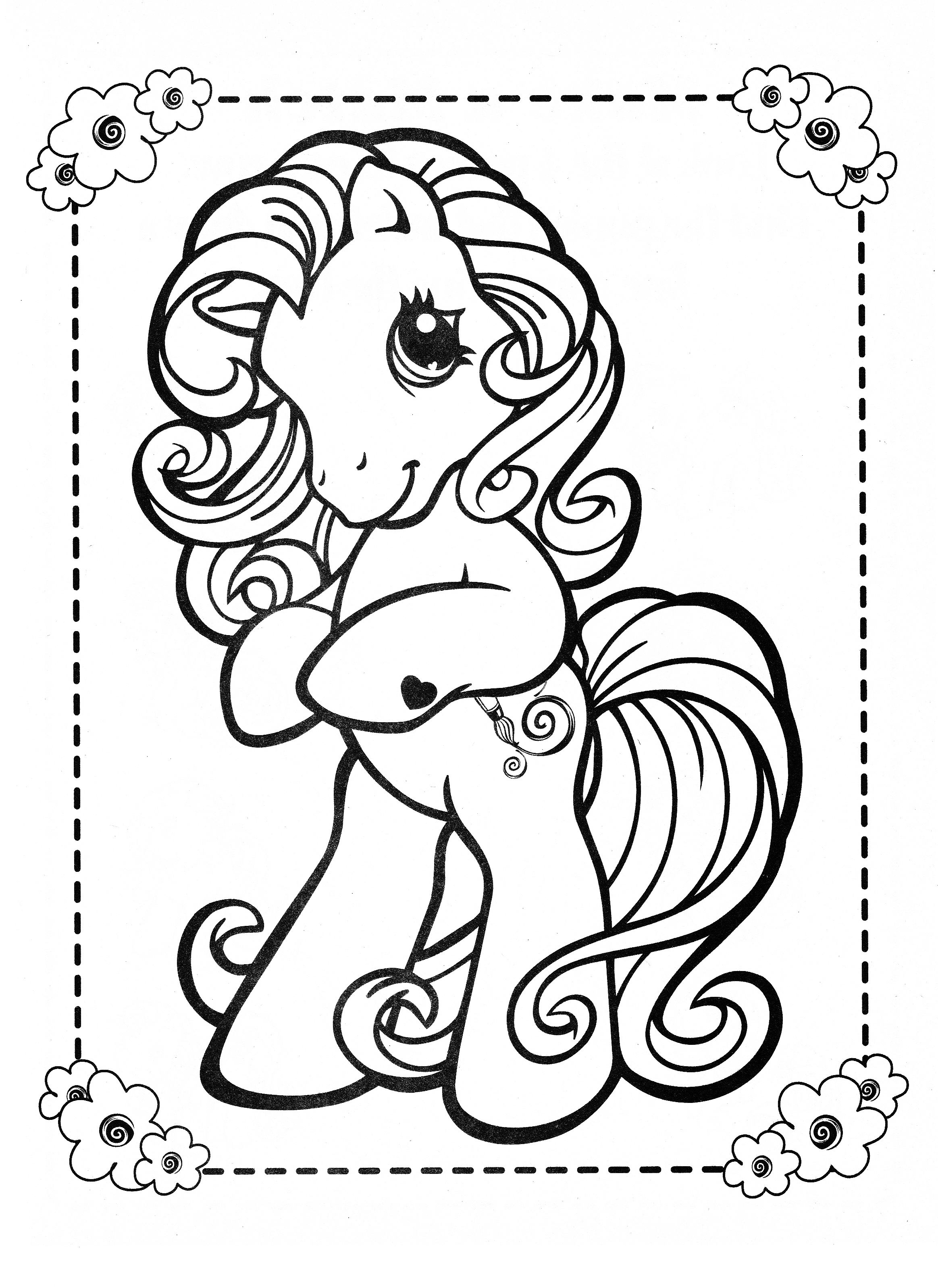 Ausmalbilder Zum Ausdrucken My Little Pony : My Little Pony Coloring Page Mlp Toola Roola Coloring Pages
