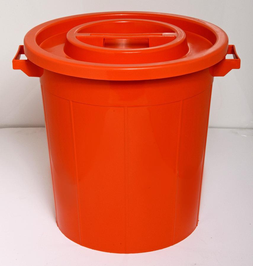درام 65 لتر ملون Waste Basket 65 Liter Color Compost Bin Plastic Items Compost