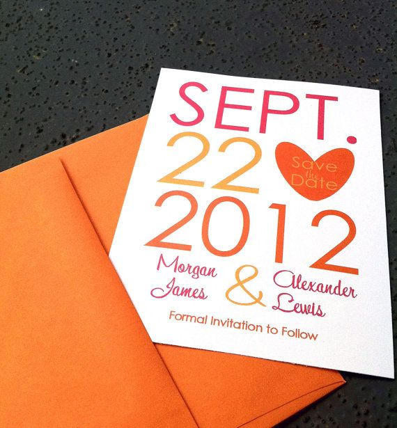 Chic and Modern wedding Save the DATE  use by yellowbeatlebugg, $42.00
