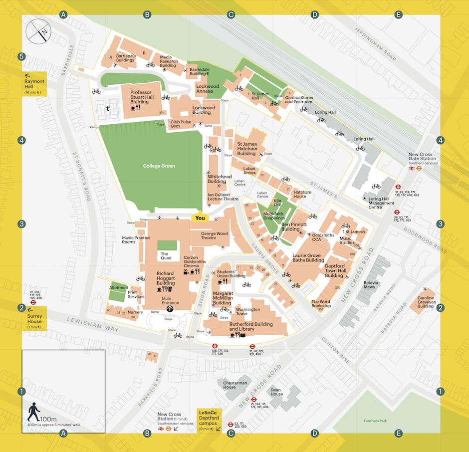 goldsmiths university campus map Goldsmiths University Of London Commissioned Jason To Create A goldsmiths university campus map