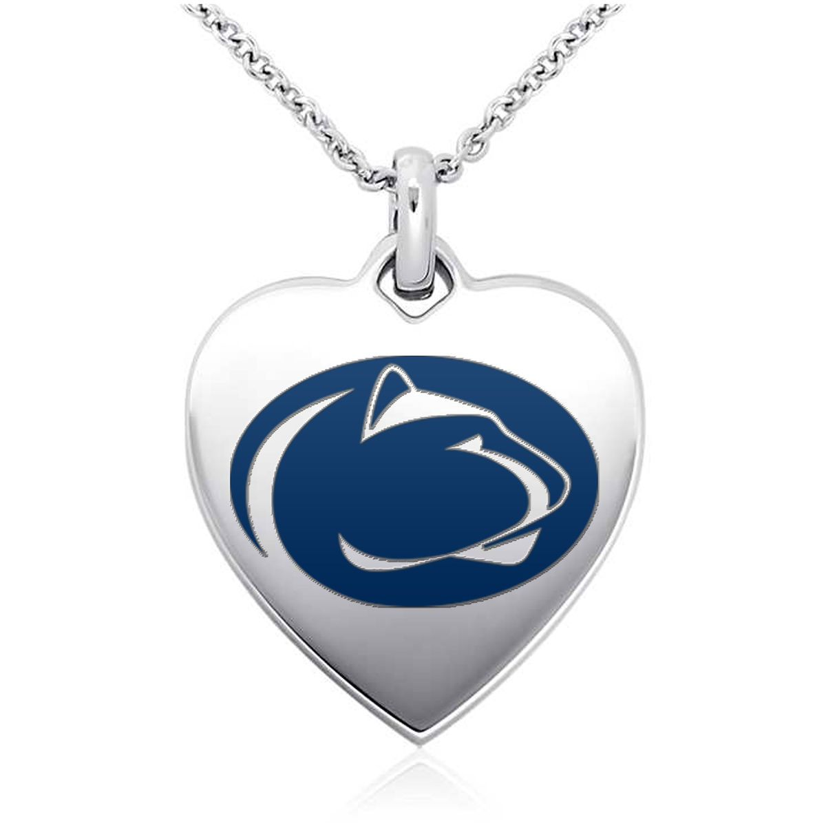 """Penn State Nittany Lions Women's 18"""" Sterling Silver Necklace with 1"""" Heart Pendant - $51.99"""