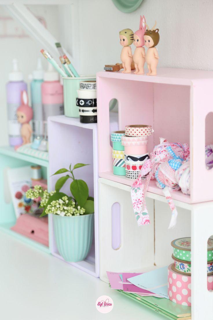 Wood Effect Kids Playroom Bedroom Storage Chest Trunk: Pretty Pastels …