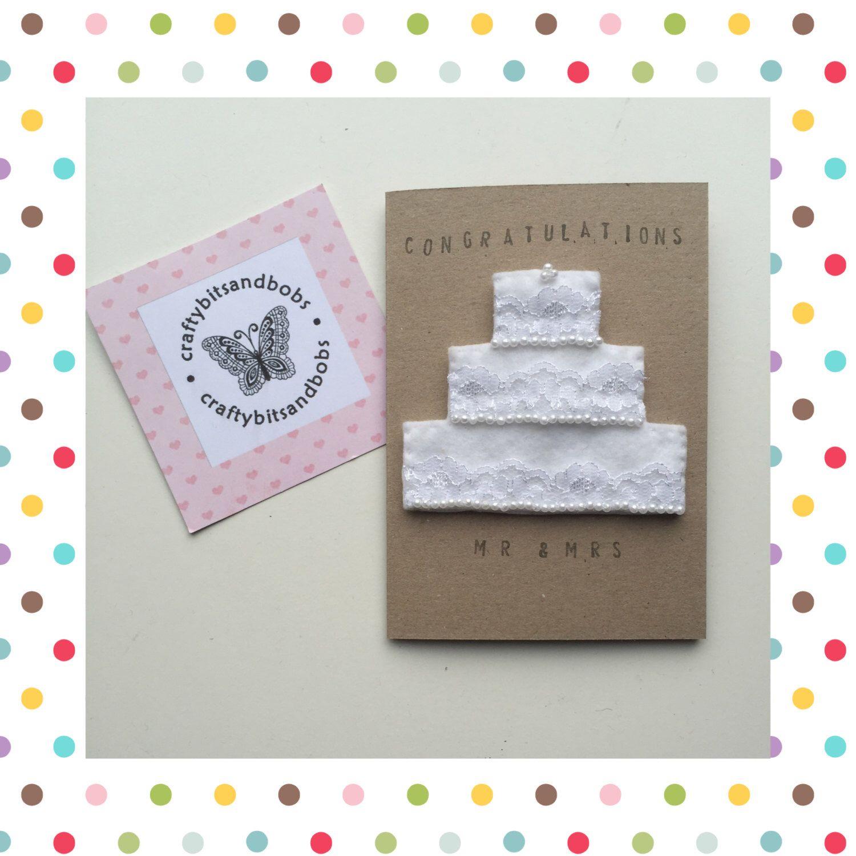 Handmade Wedding card, personalised wedding card, wedding keepsake ...