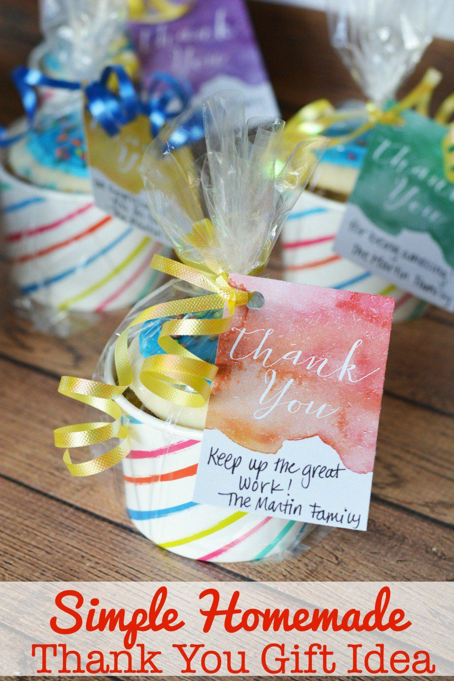 simple homemade thank you gift idea {free printable | crafts