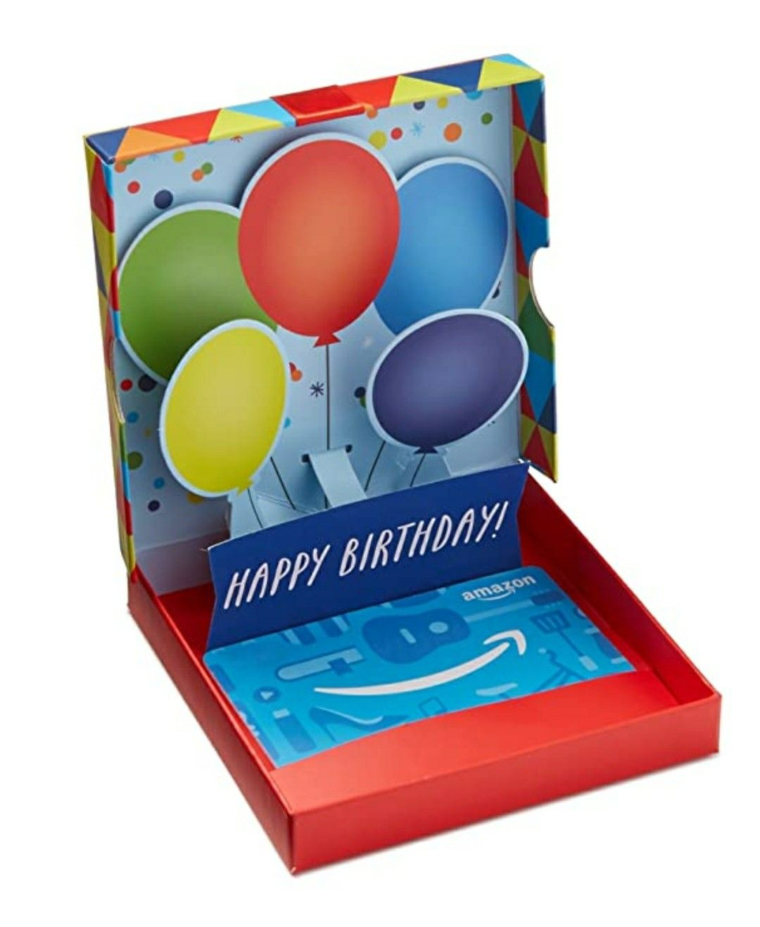 Amazon Com Gift Card In A Birthday Pop Up Box By Amazon Birthday Gift Cards Best Gift Cards Unique Birthday Gifts
