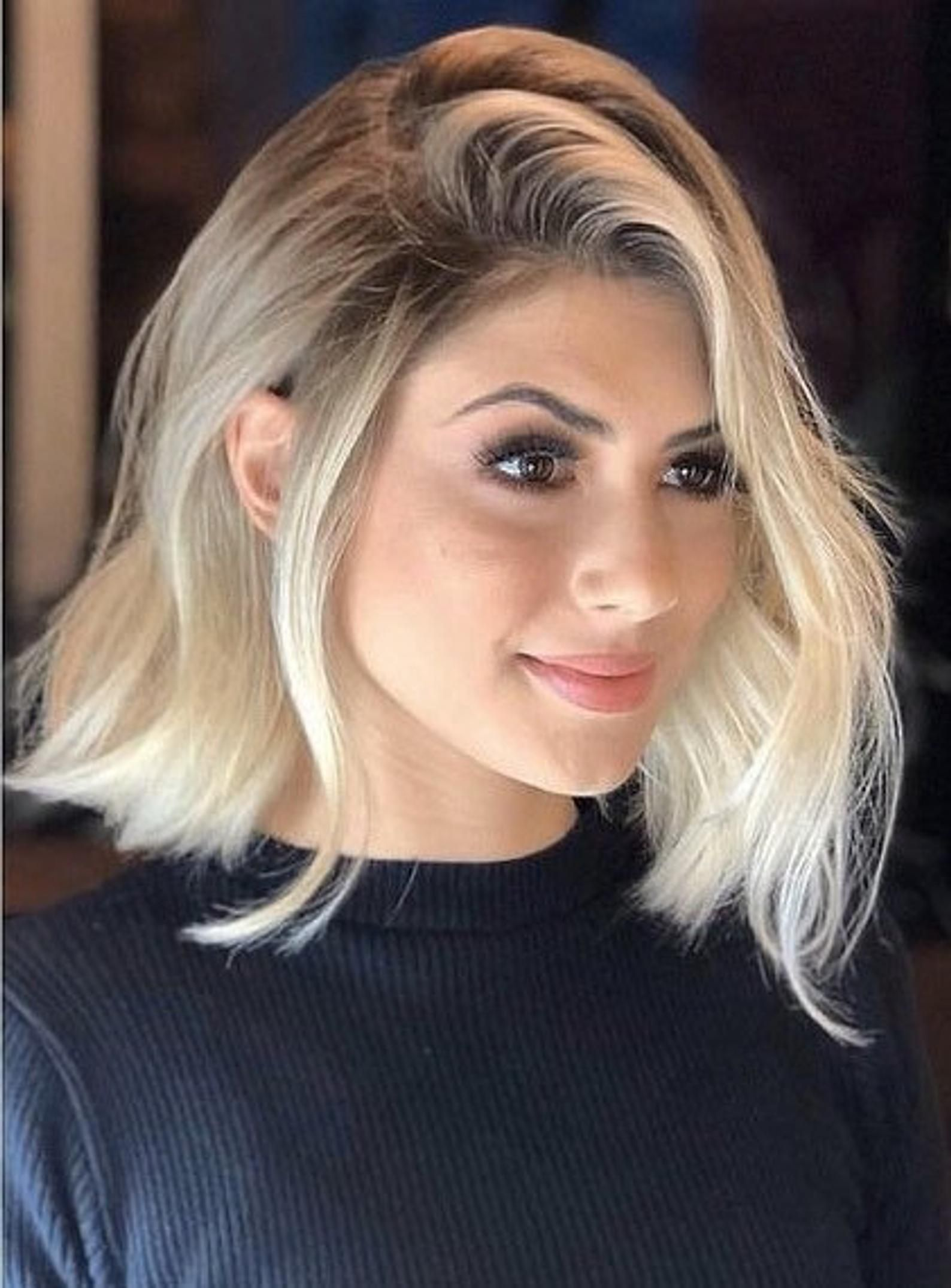 Blonde bob wig choppy short wig ombre lace front wig