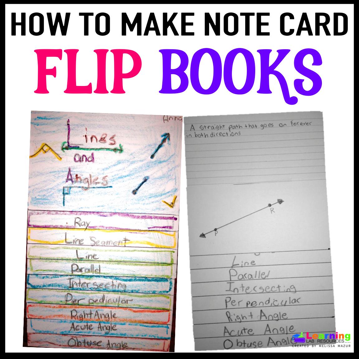 Note Card Flip Books