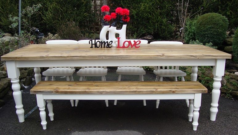 Pin By Reclaimed Farmhouse Tables On 8 Foot Rustic Shabby