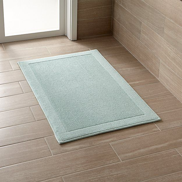 Westport Seafoam Bath Rug Crate And Barrel With Images