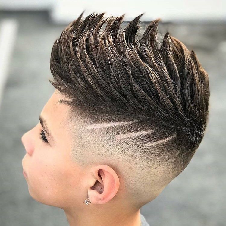 spiky haircut for boy spiky quiff high fade design hairstyle for boy top 4209 | e31accd68c6622081a875eca567f15e4
