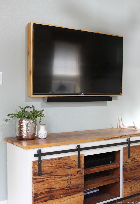 How To Build A Tv Frame Framed Living Room Unit Designs