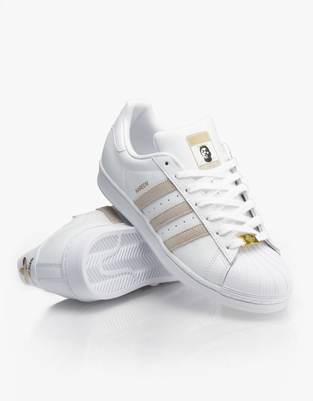 Adidas RYR Kareem Campbell Superstar Skate Shoes  WhiteWhiteWhite   RouteOne