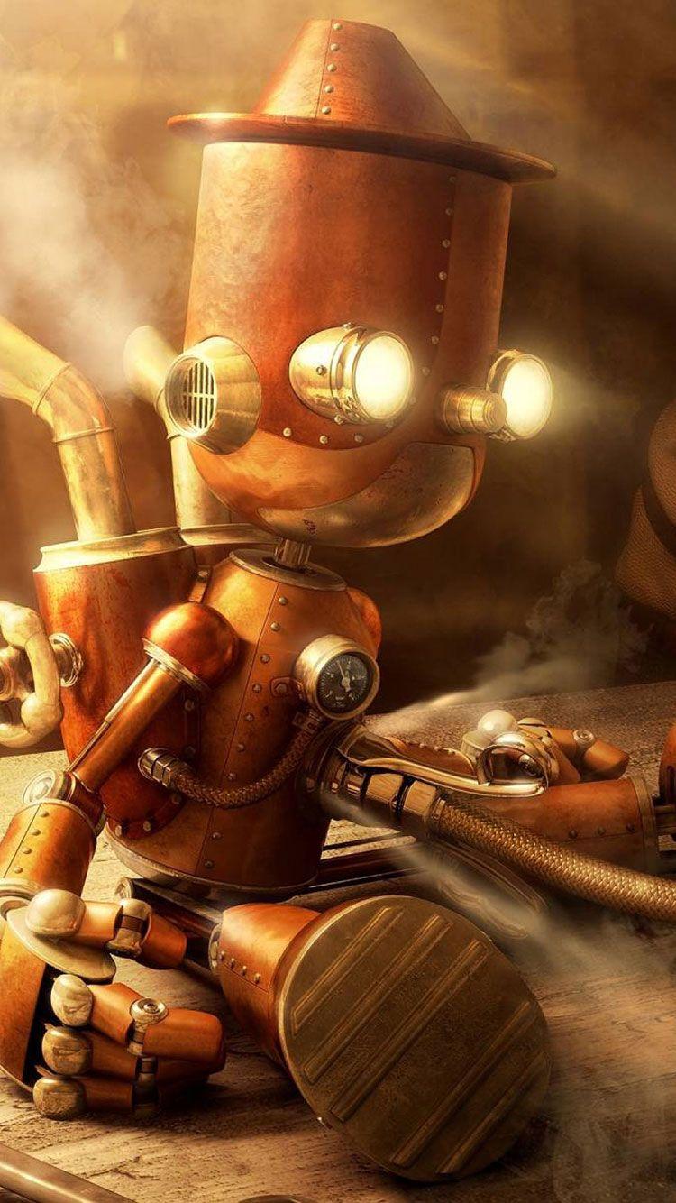 Robot Iphone Wallpaper 14 In 2019 Steampunk Robots