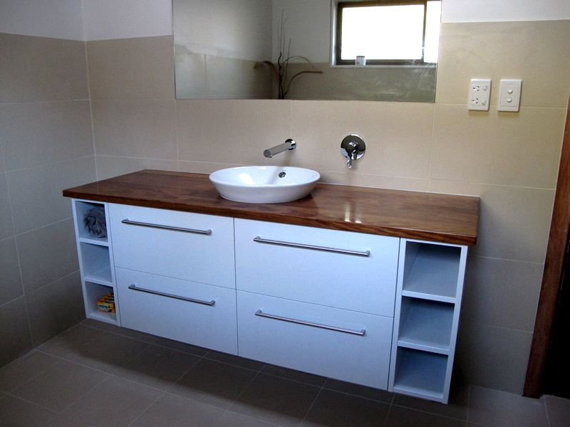 Bathroom Vanities In Timber Google Search Bathroom Reno - Custom made bathroom vanity units for bathroom decor ideas