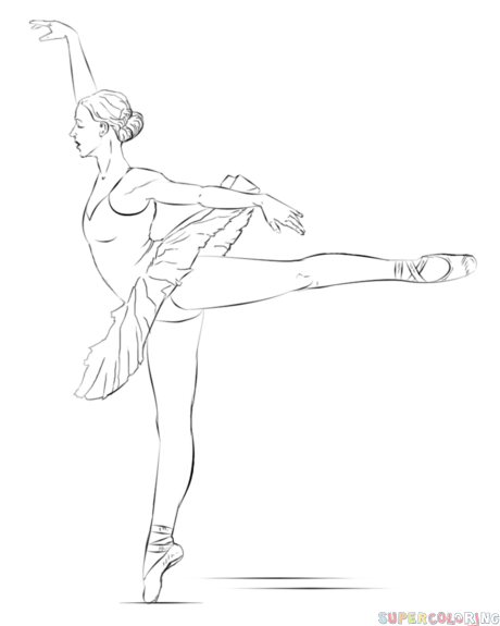 How To Draw A Ballerina Step By Step Drawing Tutorials For Kids