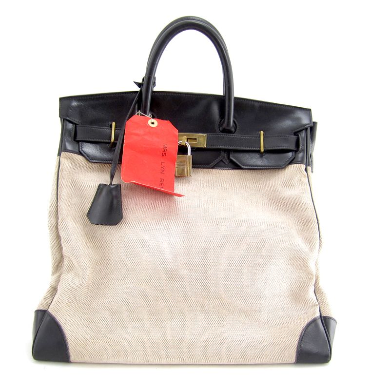 3b3745ceacfc1 Black canvas carry all Hermes HAC (vintage from Decades LA)