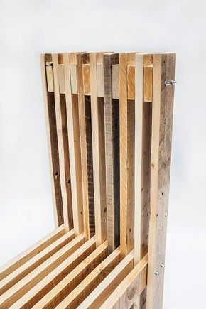 Reclaimed Wood Dining Chair Handcrafted By Order Several Colors