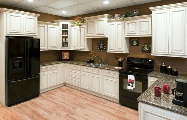 Vintage White RTA Cabinets   $1904.42 For A 10x10 Kitchen!