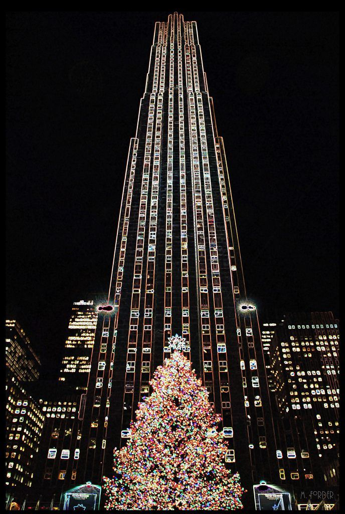 New York City Rockefeller Center Christmas Tree in 2020