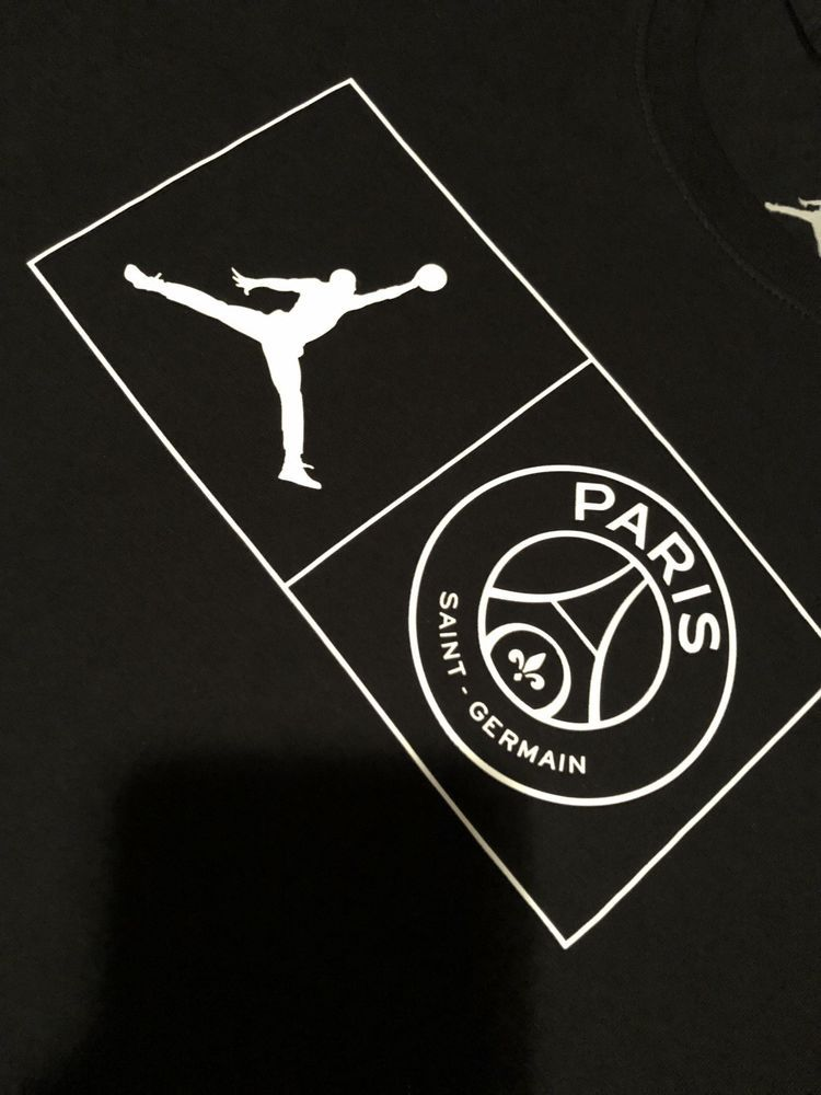 b960d539073f Nike Air Jordan PSG Paris Saint-Germain Jock Tag T-Shirt Size Medium Black  NEW #fashion #clothing #shoes #accessories #mensclothing #shirts (ebay link)