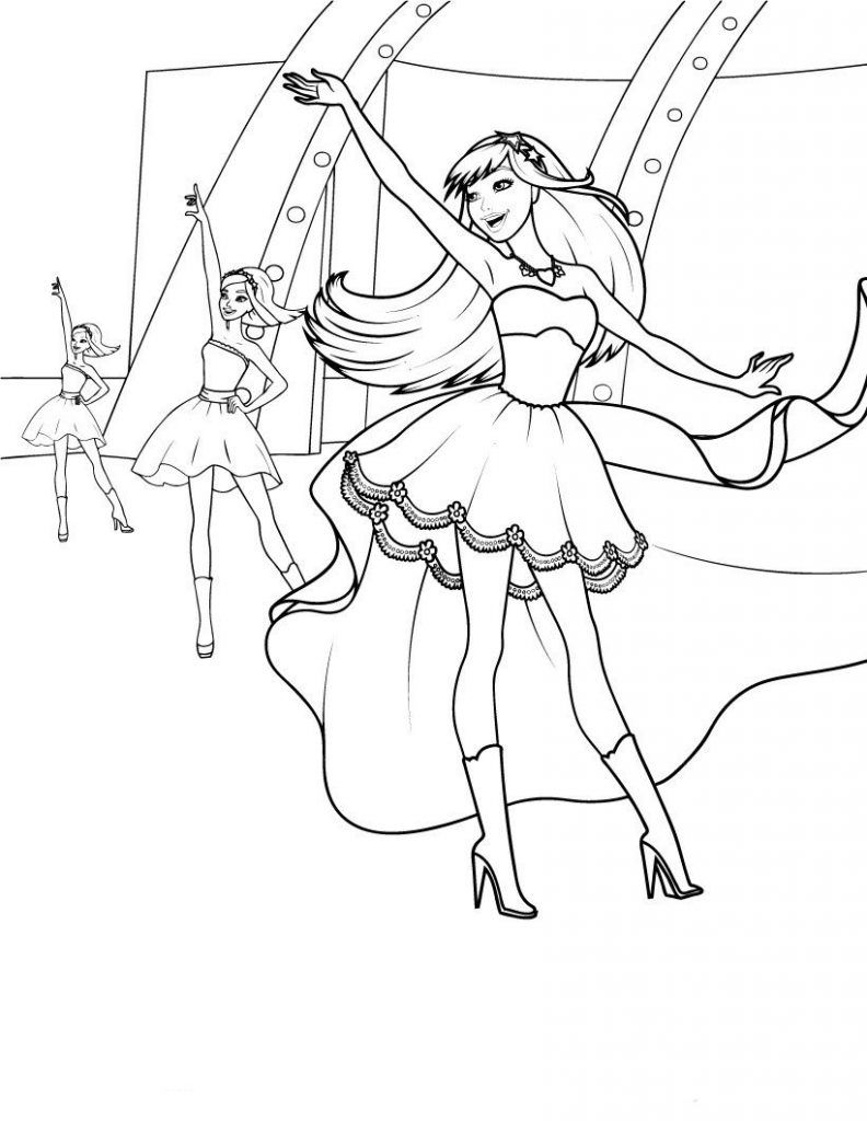 Barbie Princess Coloring Pages | Toys and Action Figure ...