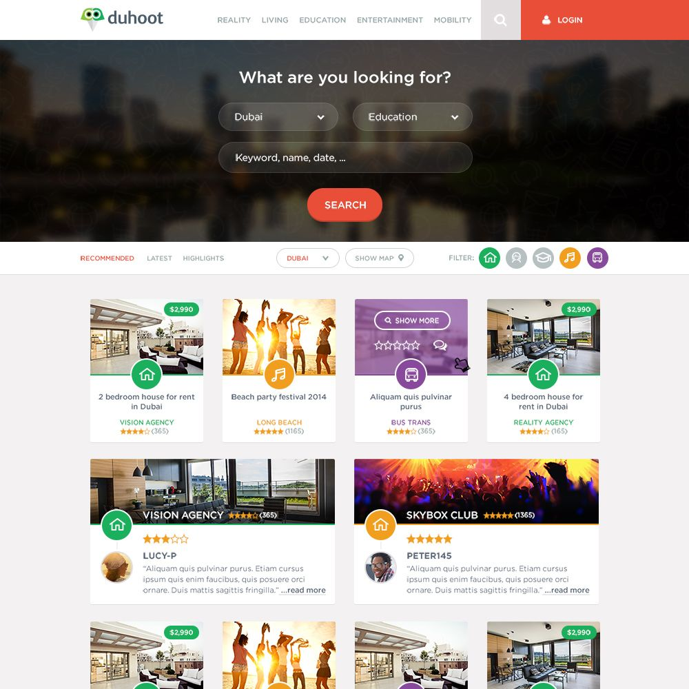 Duhoot Landing Page Template | Web Pages - GrfxPro | Pinterest ...