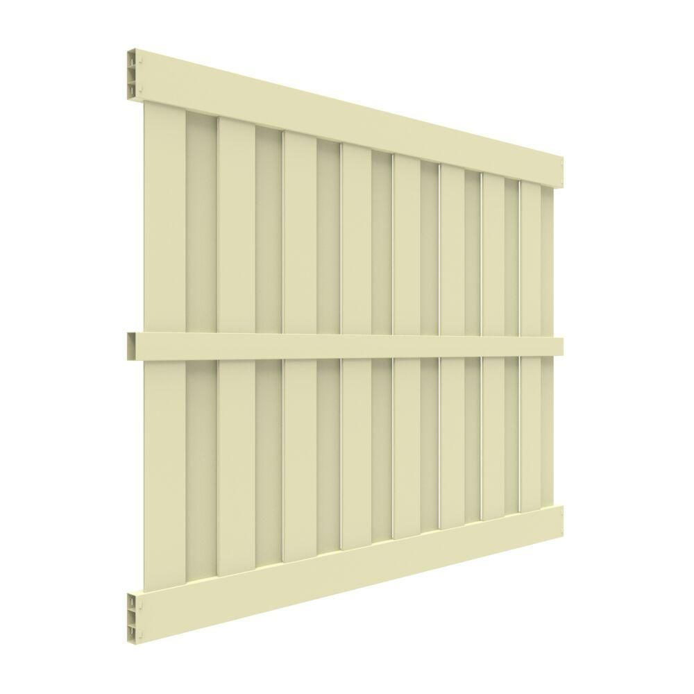 Veranda Palisade 6 Ft X 8 Ft Sand Vinyl Shadowbox Fence Panel