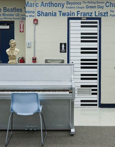 musicians on the wall piano door this would be cute for a music room in the home & Home by Novogratz | Pianos Musicians and Doors