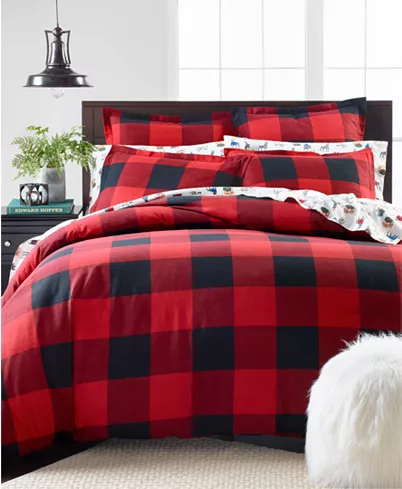 Martha Stewart Collection Buffalo Plaid Flannel Twin Duvet Cover Created For Macy S Reviews Duvet Covers Sets Bed Bath Macy S Buffalo Plaid Flannel Flannel Duvet Cover Flannel Duvet