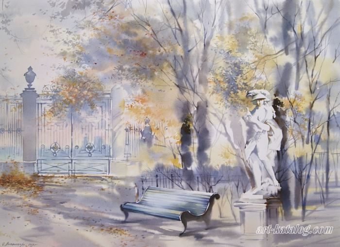 Летний сад рисунок