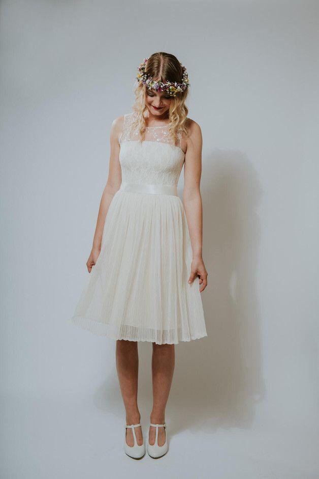 Brautkleid standesamt vintage kurz