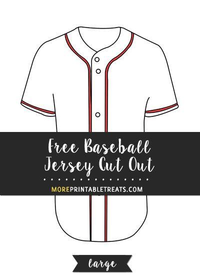 Free Baseball Jersey Cut Out - Large Baseball Printables