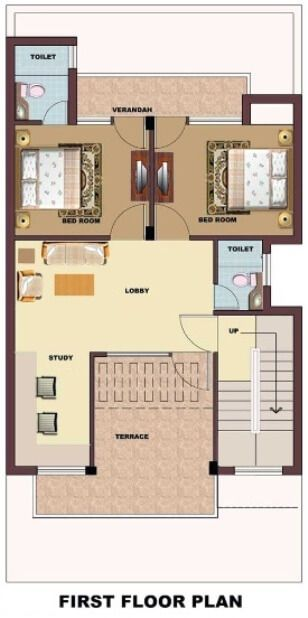 Independent floor house plans delhi ncr chennai for 25x50 house plan