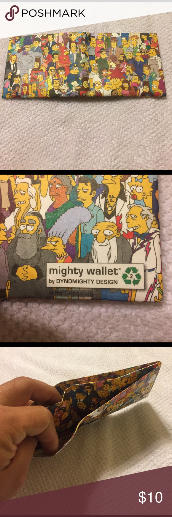 Might Simpson wallet These is a paper wallet from mighty by Dynomighty Design Mighty Fine Bags Wallets