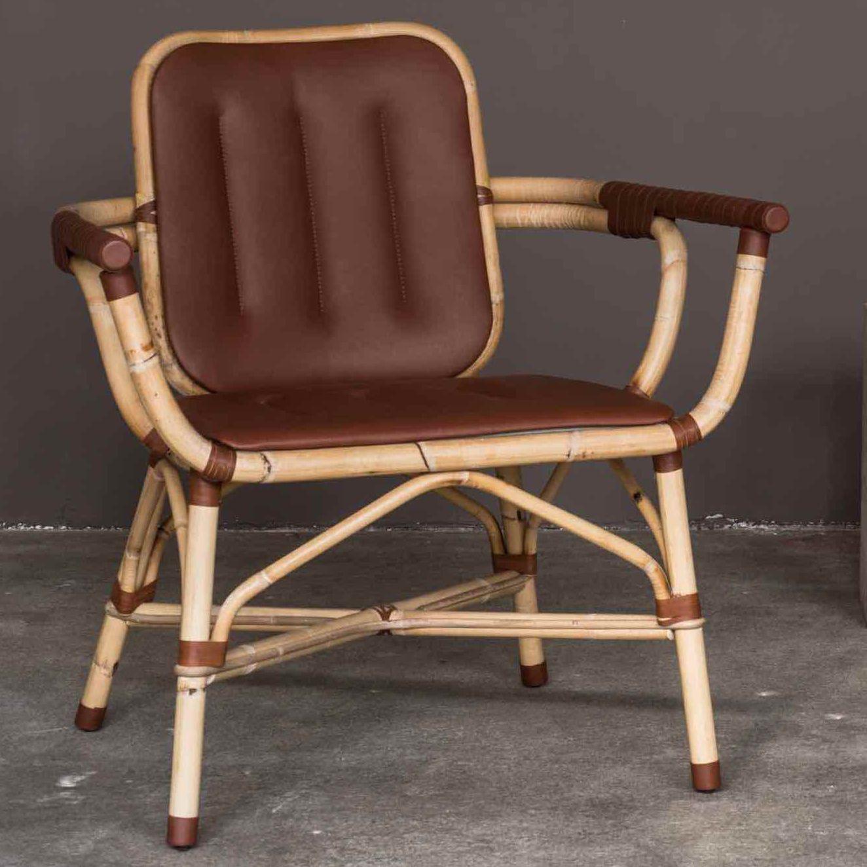 Fauteuil Contemporain En Cuir En Bambou SKIN By Dan Yeffet - Fauteuil contemporain cuir