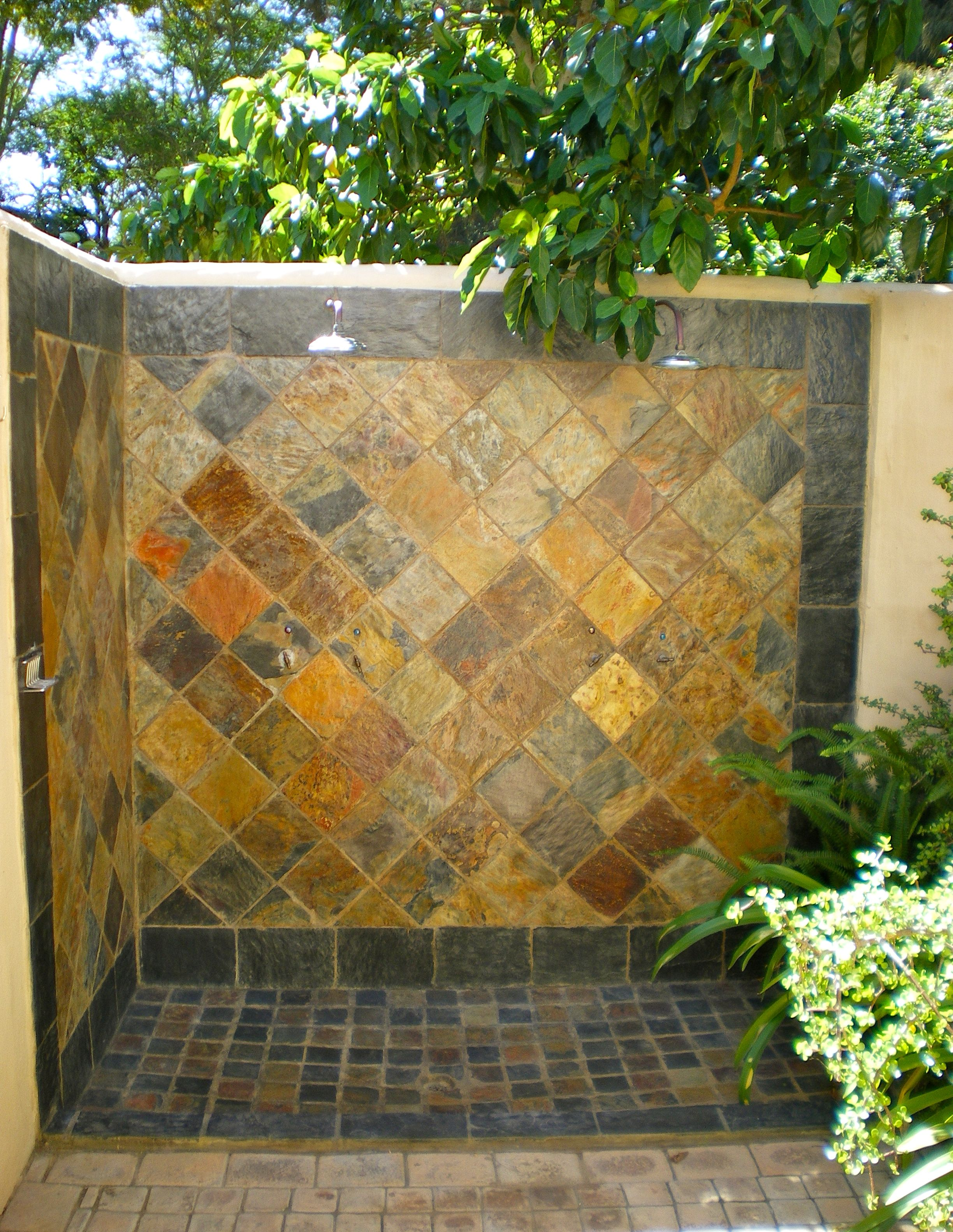 Outside Showers In Our Private Garden At Woodall Country House