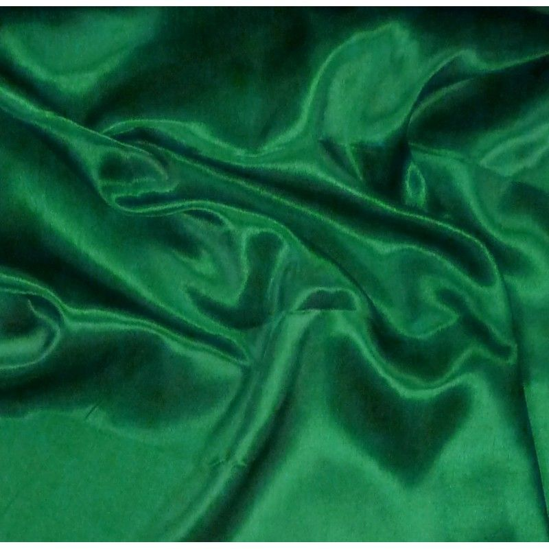 Tissus vert emeraude home tissus tissu satin - Couleur vert emeraude ...