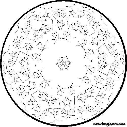 Free Printable Mandala Coloring Pages | Free Printable Mandala Coloring Pages Christmas