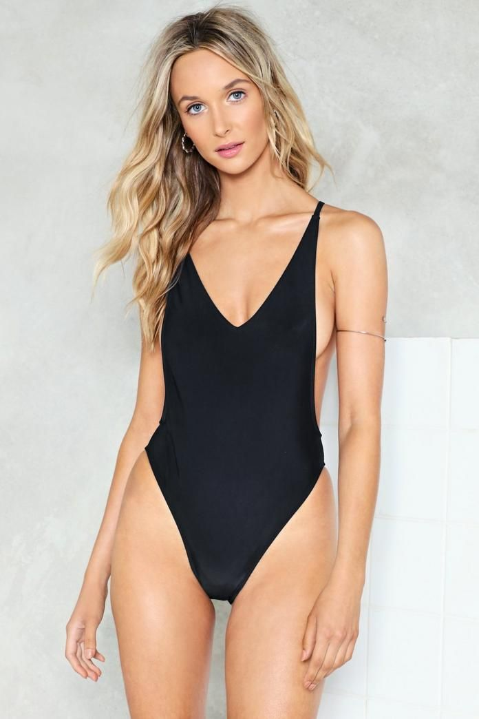 ed3250036d0e8 Nasty Gal Alina High-Leg Swimsuit | Shop Clothes at Nasty Gal in ...