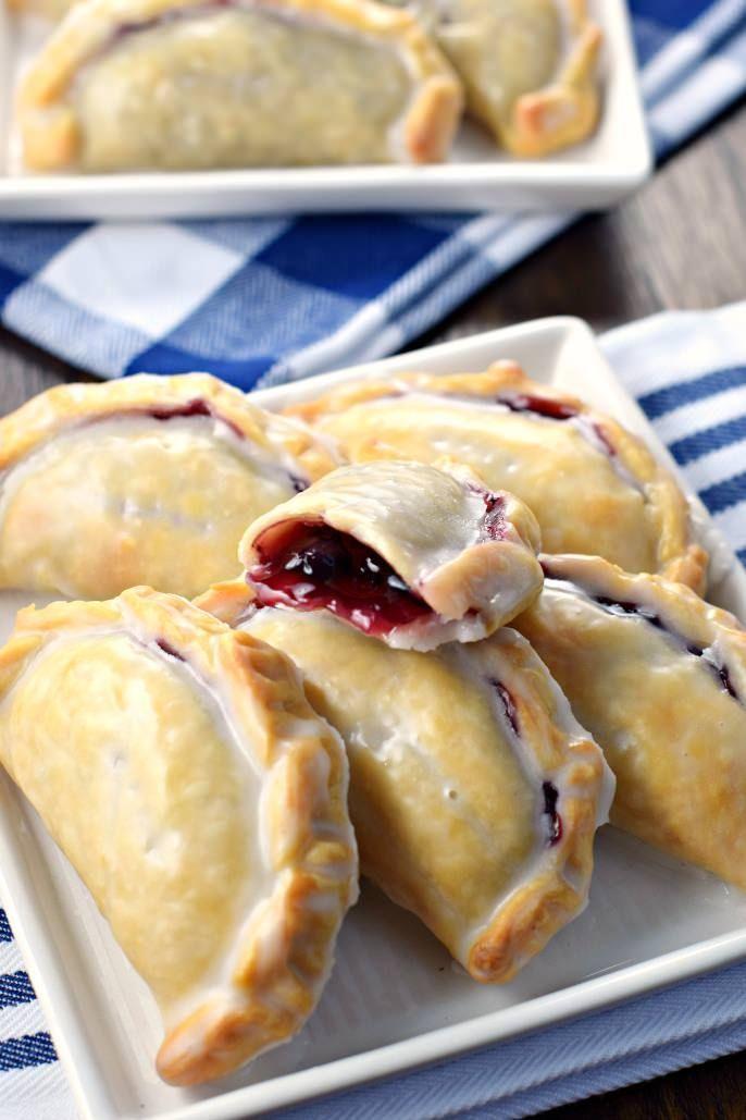 Blueberry Lemon Hand Pies - Shugary Sweets