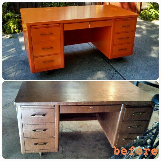 Free Craigslist Desk Rehab With Images Furniture Rehab Desk Office Desk