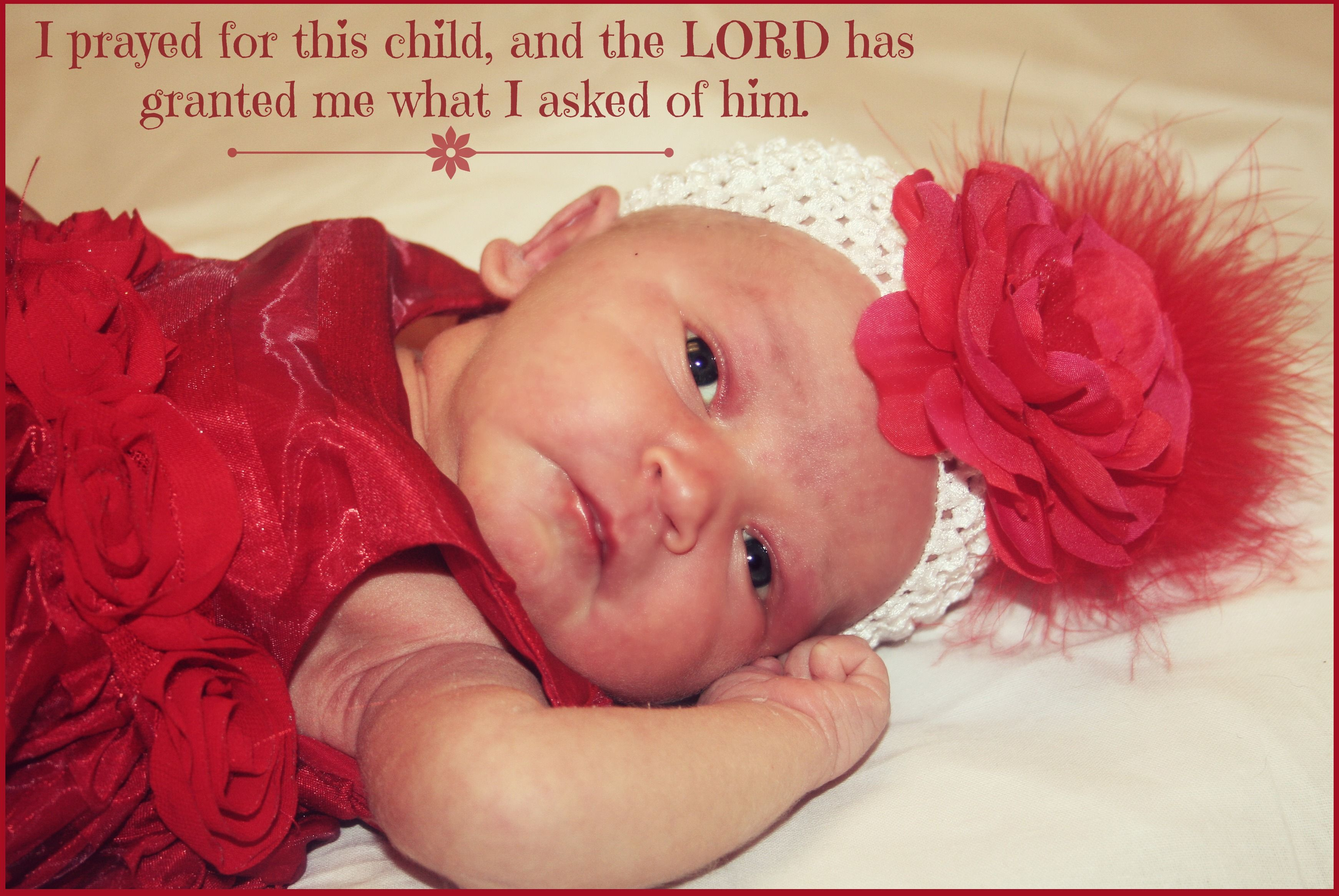 Newborn photo with Bible quote | Picture Ideas | Bible