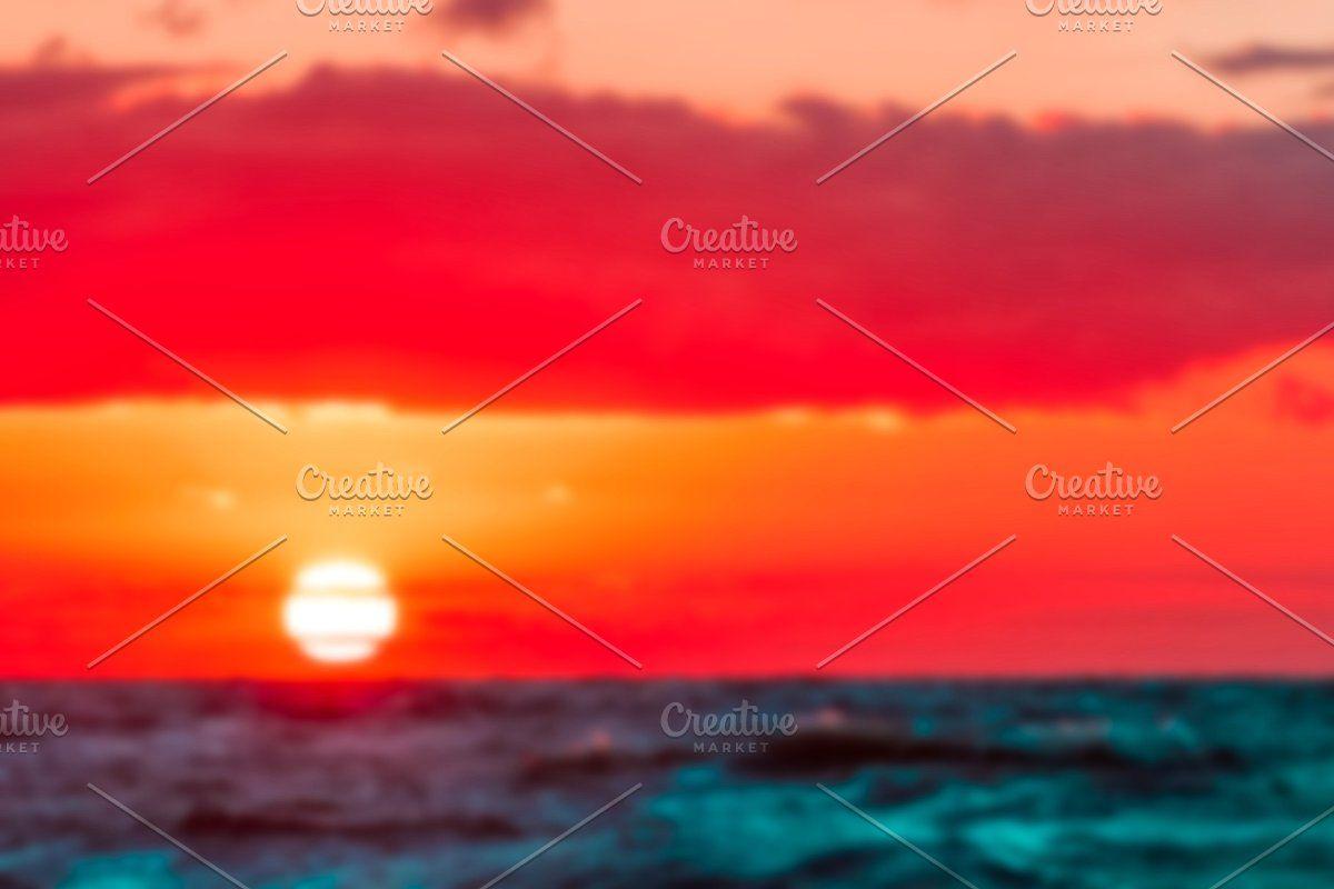 Photo of Hot sunset – blurred image #Sponsored , #affiliate, #soft#lens#Hot#sunset