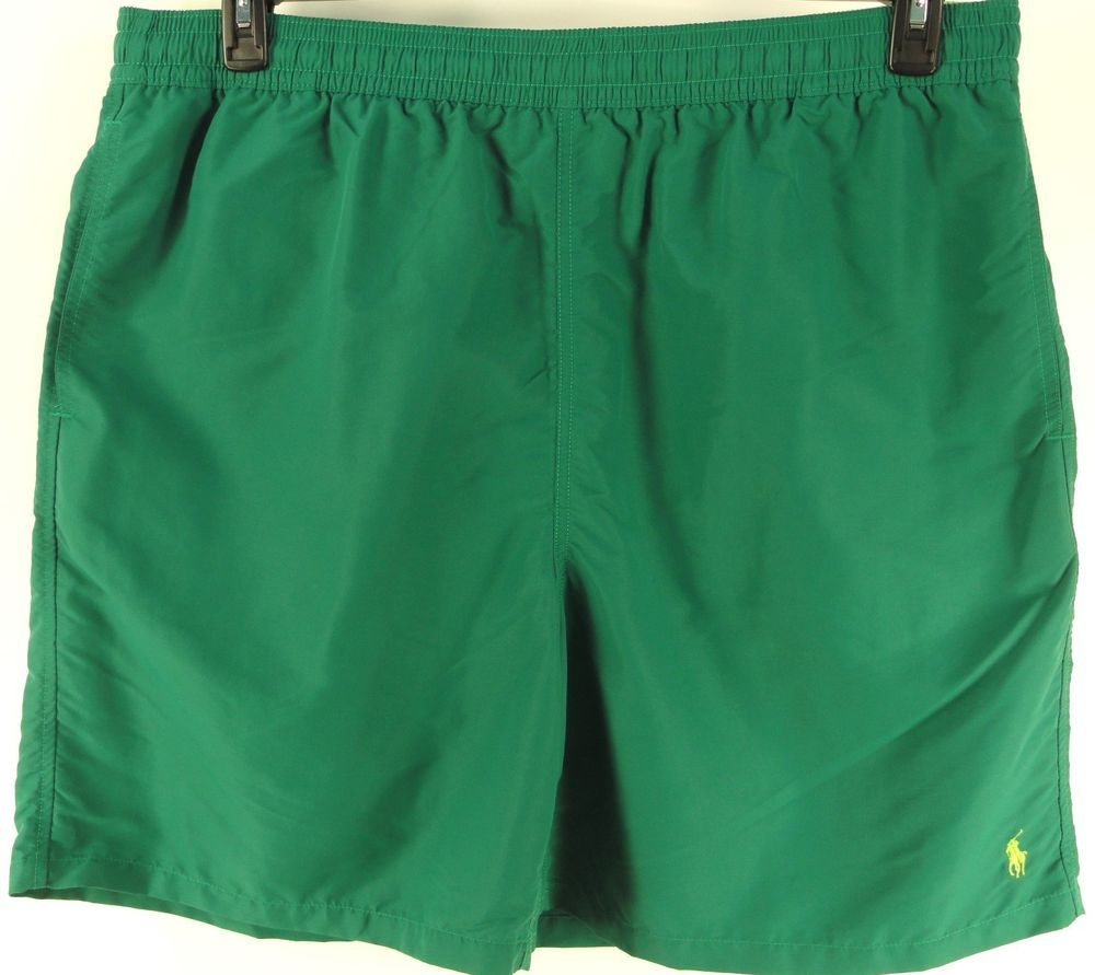 POLO RALPH LAUREN GREEN $65 Big & Tall BATHING SUIT TRUNKS BOARD SHORTS sz XXL #PoloRalphLauren #BoardSurf