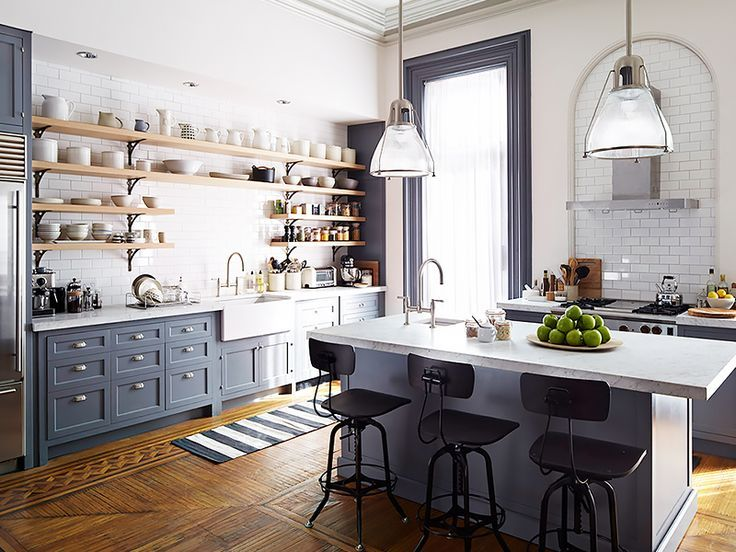 Kitchen With Shelves Instead Of Cabinets Enchanting Take A Tour Of The Gorgeous Set Of The Intern  Upper Cabinets . Design Inspiration